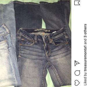dark flared jeans